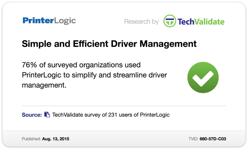 TechValidate TechFact: Simple and Efficient Driver Management