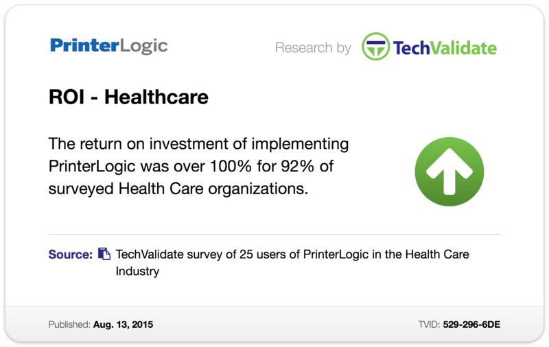 TechValidate TechFact: ROI - Health Care