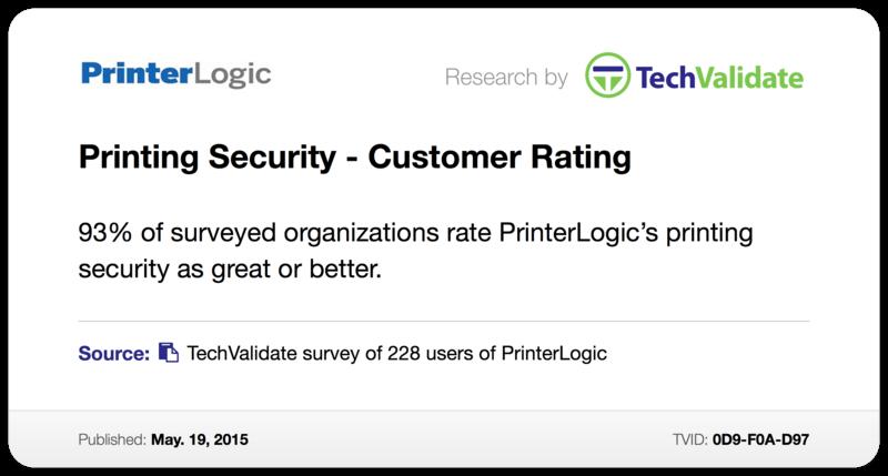 Printer Security - Customer Rating