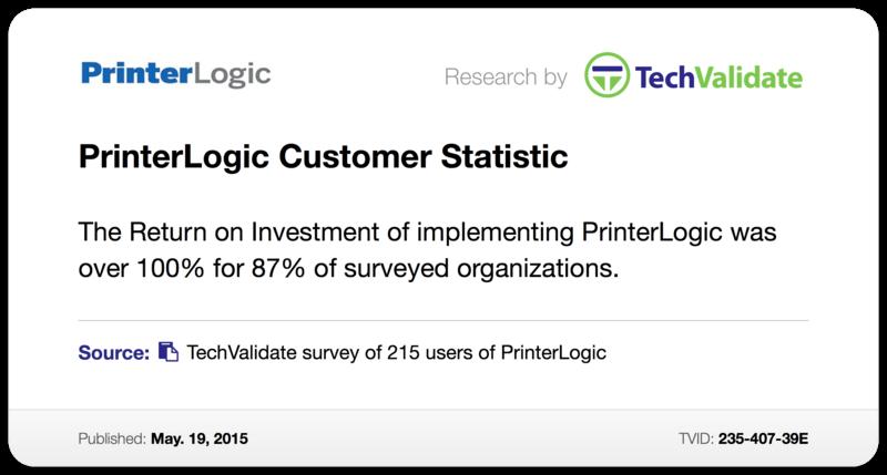 PrinterLogic Customer Statistic