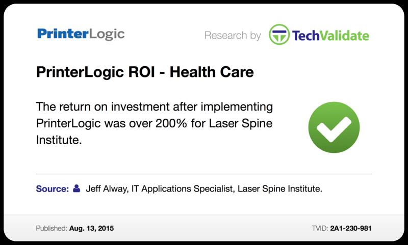 PrinterLogic ROI - Health Care