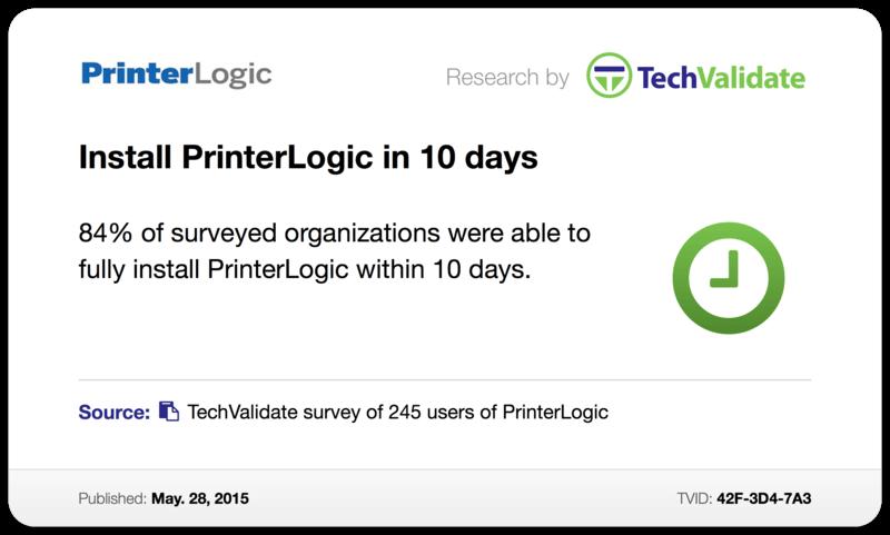 Install PrinterLogic in 10 Days