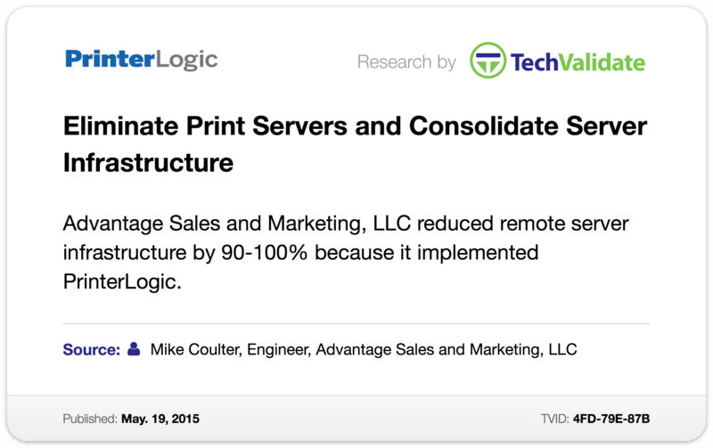 Eliminate Print Servers and Consolidate Server Infrastructure