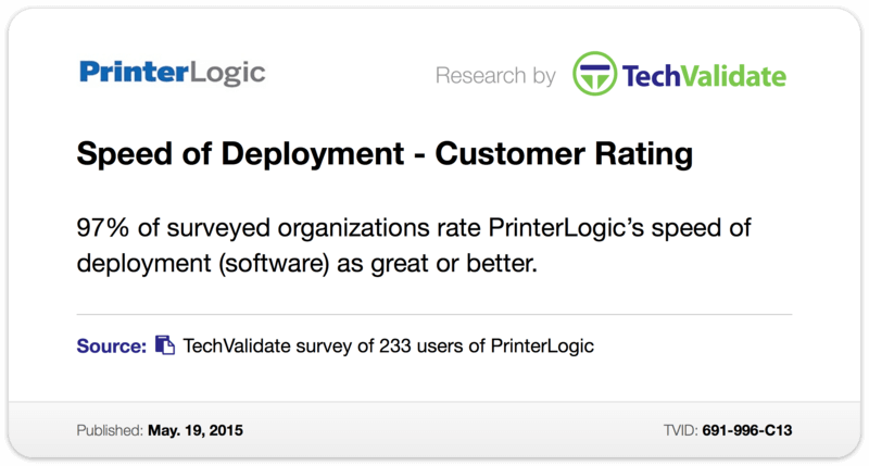 Speed of Deployment - Customer Rating