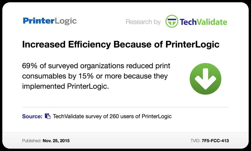 Increased Efficiency Because of PrinterLogic