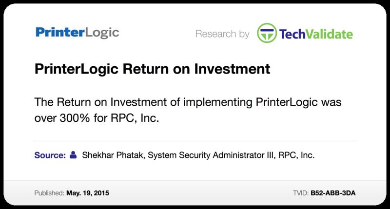 PrinterLogic Return on Investment