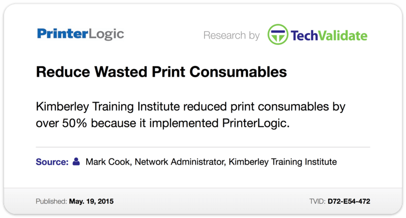 Reduce Wasted Print Consumables