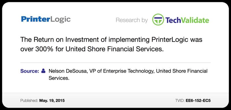 ROI of implementing Printerlogic
