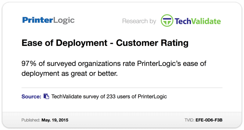 Ease of Deployment - Customer Rating