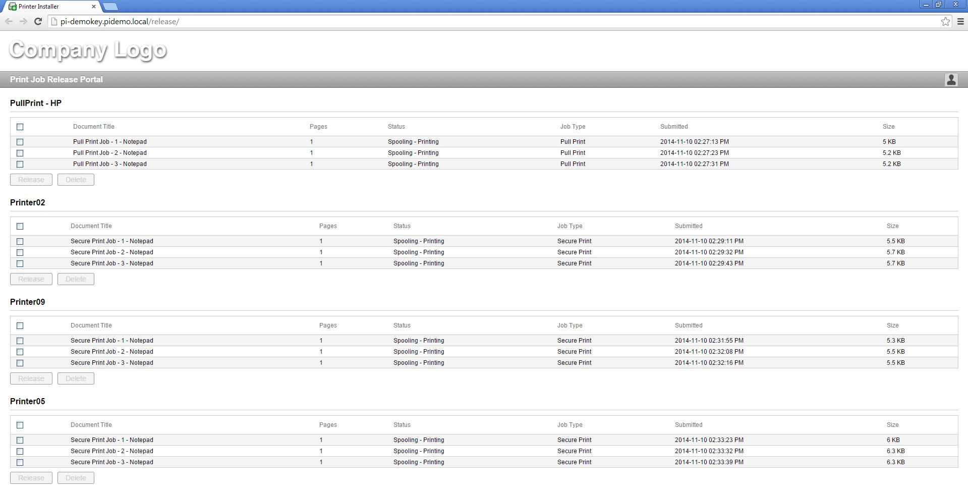 Release Portal